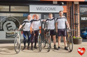 supporting local, Hickling, stalham, norfolk, farmers, sponsorship, cycling, prostate cancer uk