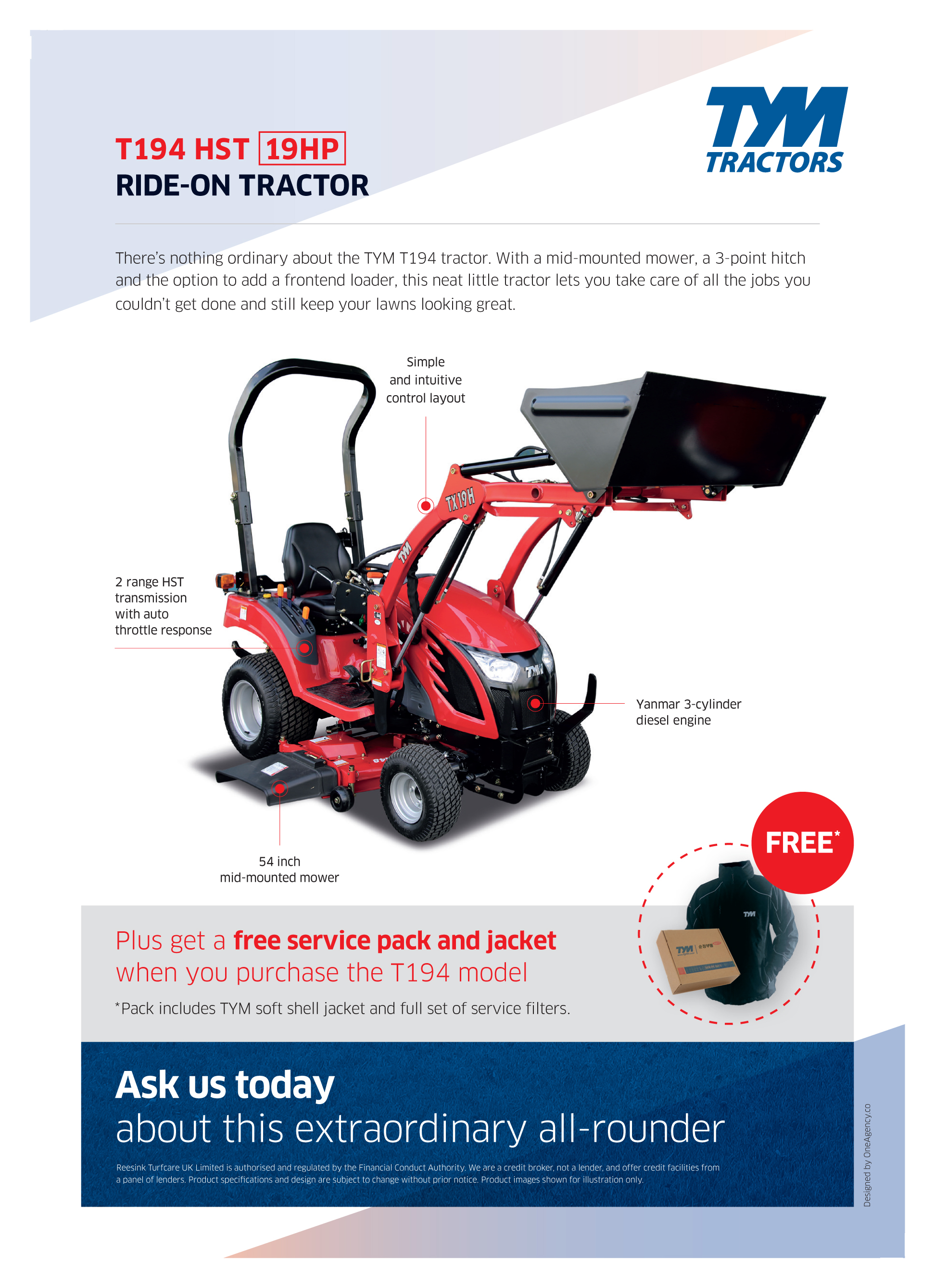 Introducing the multifunctional TYM T194 tractor